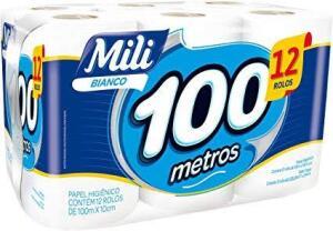 PRIME. Mili Papel Higiênico Bianco Neutro 12Rolos 100M | R$28