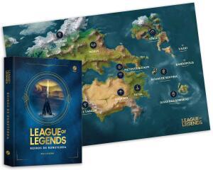 League of Legends: Reinos de Runeterra (Acompanha Mapa) (Português) Capa dura – Edição especial limitada