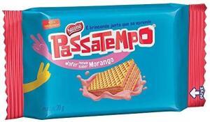 [Prime]Biscoito Mini Wafer Morango Passatempo 20g | R$0,78