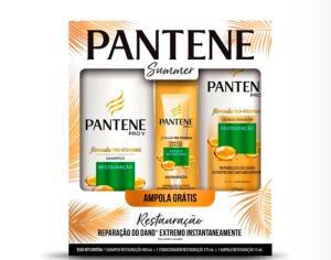 Kit Shampoo Pantene 400ml + Condicionador 170ml + Ampola 15ml - R$15