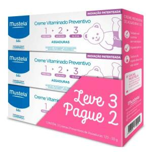 Kit Creme Vitaminado Preventivo de Assaduras Mustela 123