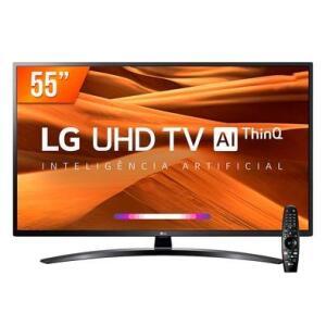 "Smart TV LG 55"" 55UM761C UHD 4K 120HZ + Controle Smart Magic   R$2.119"