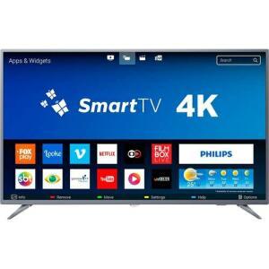 "Smart TV LED 50"" Philips 50PUG6654/78 Ultra HD 4k Design Bluetooth 3 HDMI 2 USB - R$1709"