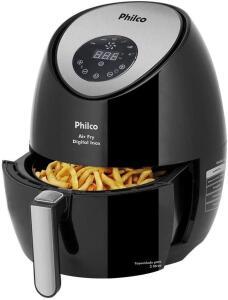 Fritadeira air fry, Digital inox, 3.2L, Preto, 220v, Philco | R$ 413
