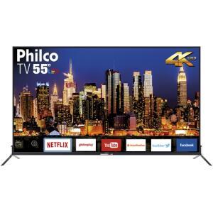 "Smart TV LED 55"" Philco PTV55Q50SNS Ultra HD 4k ELED | R$2230"