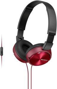 Fone de Ouvido com Microfone, Sony, Preto/Vermelho R$80