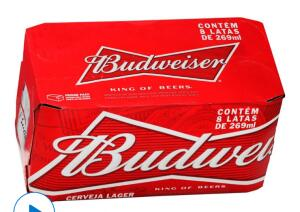 cerveja budweiser 269ml 8 unidades