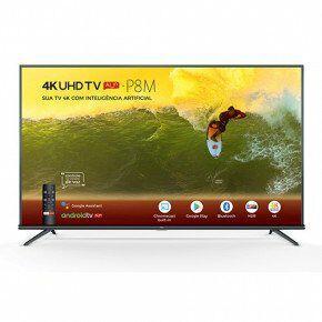 "Smart TV LED 55"" 4K TCL 55P8M com Android TV | R$1.999"