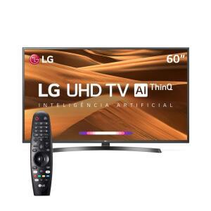 "Smart TV LED 60"" UHD 4K LG 60UM7270PSA ThinQ AI IoT, HDR Ativo, WebOS 4.5, Ultra Surround, Controle Smart Magic e Bluetooth"
