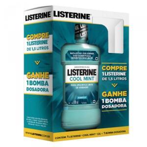 Antisséptico Bucal Listerine Cool Mint 1,5l - com bomba dosadora R$20