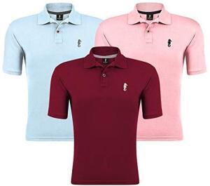 Kit 03 Camisas Gola Polo Marine