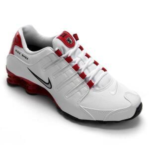 Tênis Nike Shox Nz Masculino - Branco e Vermelho (N43 e 44)