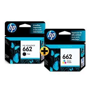 Cartucho HP 662 preto + Cartucho 662 colorido
