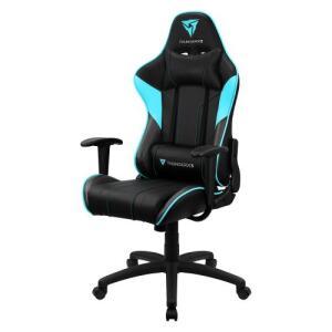[Frete Grátis] Cadeira Gamer ThunderX3 EC3 Giratória Preta E Ciano | R$700