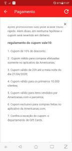 Cupom Lojas Américanas