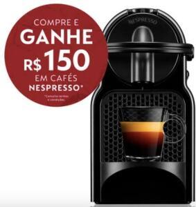 Máquina para Café Inissia 220V Nespresso Preta | R$ 229