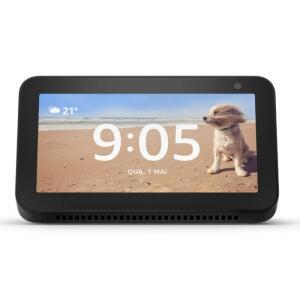 "Echo Show 5 Amazon Smart Speaker Preta Alexa em Portugues com Tela de 5,5"""