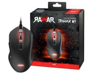 Mouse Gamer Rawar Trigger W1, RGB, 7 Botões, 6000DPI - RW170003N