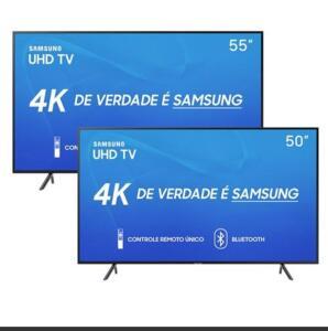 "Smart TV LED 55"" UHD 4K Samsung 55RU7100 + Smart TV LED 50"" UHD 4K Samsung 50RU7100"