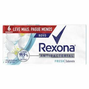 Kit Sabonete Barra Rexona Antibacteriano Fresh 6x84g