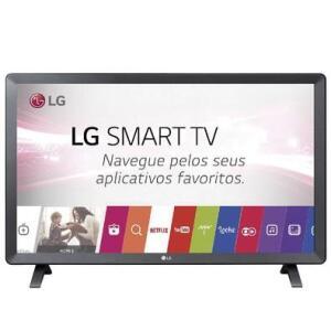 "Monitor Smart TV LED 24"" LG 24TL520S HD | R$586"