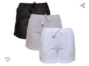 [Prime] Kit com 3 Shorts de Moletim Style Feminino - R$70