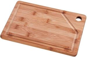 [Prime] Tábua Retangular Bamboo Mor 30cm x 20cm R$ 17