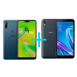 Zenfone Max Shot 3GB/64GB (32GB+32GB) Azul + Zenfone Max (M3) 4GB/64GB Preto