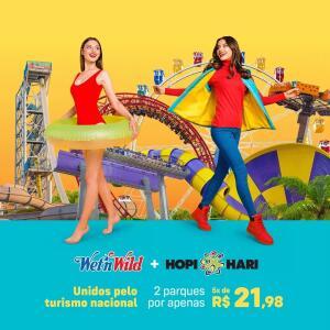 Combo Diversão - Wet'n Wild & Hopi Hari