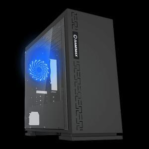 Gabinete Gamer Gamemax Black Expedition, Mid Tower, Com 1 Fan Blue, Black, S-Fonte, H605