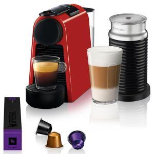 Máquina de Café Nespresso Essenza Mini D30 com Aeroccino + R$150 em cápsulas | R$314