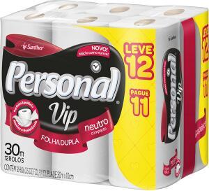 [Prime] Papel Higiênico VIP Folha Dupla, Personal, 12 unidades R$ 13