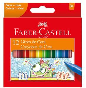 Giz de Cera, Faber-Castell 12 Cores - FRETE GRÁTIS COM PRIME