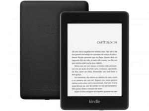 "Novo Kindle Paperwhite Amazon à Prova de Água - Tela 6"" 8GB Wi-Luz Embutida Preto"
