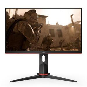"Monitor Gamer AOC 23.8"" IPS 144Hz 1ms FHD FreeSync VGA/HDMI/DP, 24G2/BK"