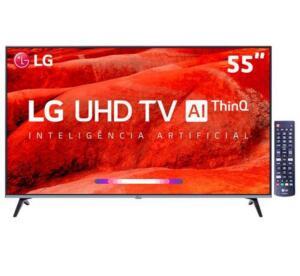 "R$2.168,00 Smart TV LED 55"" UHD 4K LG 55UM7520PSB"