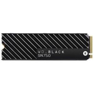 SSD WD Black SN750 Heatsink, 500GB, M.2 NVMe, Leitura 3470MB/s, Gravação 2600MB/s