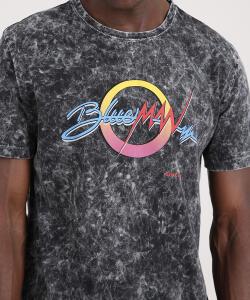 Camiseta masculina blueman marmorizada - R$20
