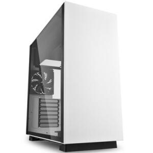 Gabinete Gamer Sharkoon Pure Steel sem Fonte, Mid Tower, USB 3.0, 2 Fans, Branco com Lateral em Vidro