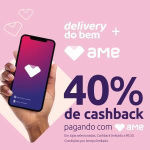 [SP/RJ] AME Delivery do Bem - 40% Cashback