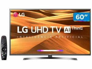 "Smart TV LED 60"" UHD 4K LG, 3 HDMI, 2 USB, Bluetooth, Wi-Fi, ThinkQ AI, HDR - 60UM7270"