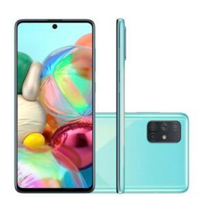 Smartphone Samsung Galaxy A71 128GB Azul 4G Tela 6.7 Pol. Câmera Quadrupla 64MP Selfie 32MP Android 10.0
