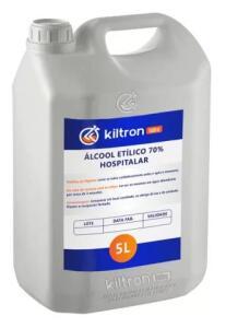 Álcool 70% 5 litros - líquido antisséptico - etílico hidratado - Kiltron Labs