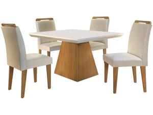Mesa de Jantar 4 Cadeiras Retangular Rufato-Luna Athenas