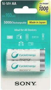 Pilhas Sony Basic recarregaveis AA 1000MAH
