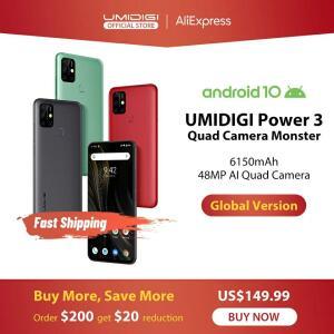 Smartphone Umidigi power 3 48mp quad ai câmera 6150 mah | R$ 891
