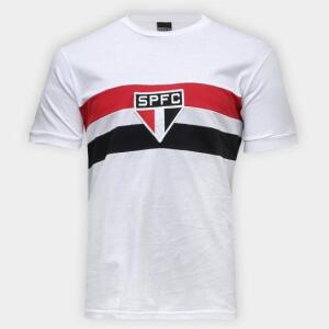 Camiseta São Paulo Retrô 1970 Masculina - Branco | R$ 60
