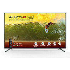 Smart TV TCL LED 50'' 50P8M 4K UHD HDR com Android e Comando de Voz - R$1615