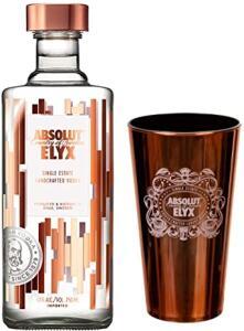 Kit Vodka Absolut Elyx 750ml + Copo Metalizado | R$125