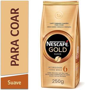 Café Torrado e Moído NESCAFÉ Gold Suave 250g R$ 10